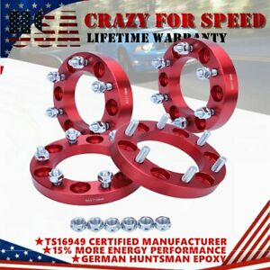 4PCS1'' Thick  Hubcentric Wheel Spacers Adapters 6X5.5 12x1.5 For Toyota Isuzu