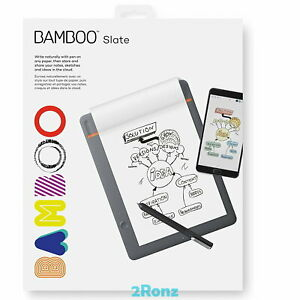 Wacom Bamboo Slate Smartpad Bluetooth Pen A5 / A4 Handwritten to Digital Files