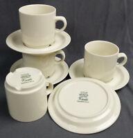 4 Set of Arabia Finland Kesti Coffee Cup with Saucer By Goran Back