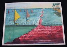 C334 Affiche Scolaire vintage BOCAGE MER VIE SOUS MARINE  PLONGEE Rossignol