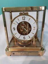 Vintage JAEGER-LECOULTRE ATMOS Perpetual Motion Clock Brass & Glass 1960-70s EC