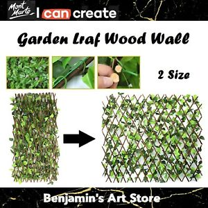 Au Expanding Trellis Artificial Plant Garden Wall Leaf Wood Fence UV Protected