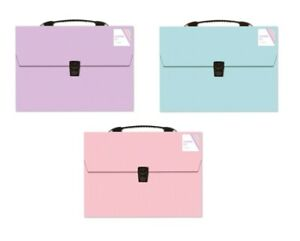 Pastel Colour A4 Expanding File 13 Pocket Document Organiser Paper Storage PTEF