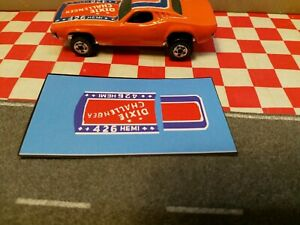 Hot wheels Dixie Challenger Mattel  SET OF STICKERS Dukes of Hazzard 1982 NO CAR