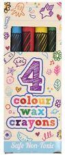 20 PK 4 Mini Colouring Wax Crayons Lucky DIP Party Bag Pinata Toys Fillerss40010