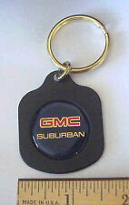 GMC SUBURBAN METAL & EPOXY RESIN AUTOMOTIVE ADVERTISING KEYCHAIN