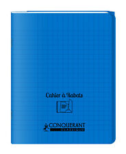 Cahier à rabats 17x22 - 96 pages - Séyès - Polypro bleu