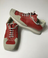 PRADA Sport Women's Tan Suede Red Leather Sneakers Shoes Size 6 36-1/2 cushioned