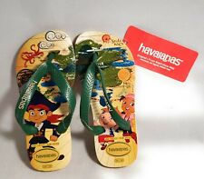 NWT:  Havanianas Jake And The Pirates Flip Flop Tan/Green USA 13C/1Y  EUR 31/32