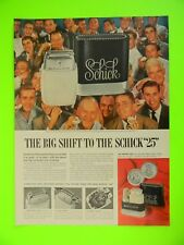 "1955 THE BIG SHIFT TO THE SCHICK ""25"" and NBC TV SHOWS COLOR PHOTO AD"