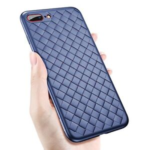 Weave Case For iPhone X/ 8 7  Luxury Ultra Thin Grid Soft Protective Cover