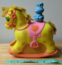 Vintage Mattel 1981 Rocking Horse & Bunny Baby Crib Toy AS IS