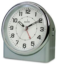 CLEARANCE Acctim Central Clock Sweep  Alarm With in Silver Case (our ref 4ROBP)