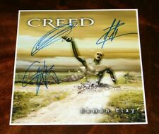 CREED BAND SIGNED X3 HUMAN CLAY 12X12 ALBUM COVER PHOTO SCOTT STAPP TREMONTI!!!