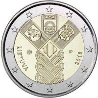 Litauen 2 Euro 100 Jahre Unabhängigkeit 2018 bankfrische Gemeinschaftsausgabe