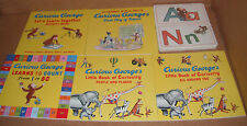 Lot of 5 Curious George Learning Library Books & Flashcards by H. A. Rey  NEW