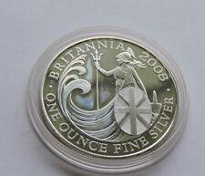 2008 Silver Britannia £2 1 Ounce In Capsule