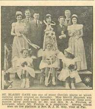 1954 Miss Merrill Hancock Crowned Queen St Blazey Gate