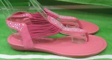 new Summer pink  Rhinestone  Shoes Sexy Elastic Sandals  Women Size 5.5