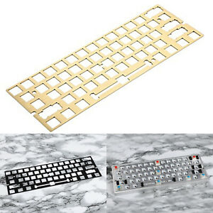 For GH60 GK61 Mechanical Keyboard PCB CNC ANSI Anodized Positioning Board Plate