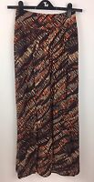 TU Long SKIRT SIZE 8 Brown Animal Print Summer Holiday Boho Festival  Gypsy Maxi