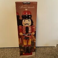 "Kirkland 24"" Wooden Nutcracker Drummer—in Original Box #387709 - Free Ship"
