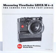 Leica M4-2 Measuring Viewfinder  - Foldout Booklet / Print