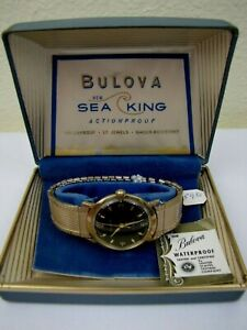EXTREME RARE 1ST YEAR 1959 BULOVA SEA KING AUTOMATIC MENS WRISTWATCH NEW IN BOX!