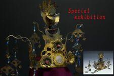 Japan Antiques Edo Phoenix crown princess katana eboshi kanzashi samurai yoroi