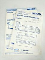 ORION VCR VR0101A Owner's Manual & Quick Set Up Sheet Lot VHS Player