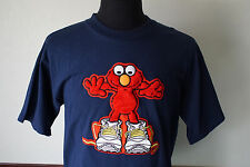 Rare Vintage Elmo Sesame Street T-Shirt Furry 3D Graphic Sz Large Made in USA