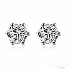 platinum and diamond earrings with 1/2 carat diamond (Total)