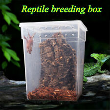 White Pet Reptile Feeding Tank Insect Snake Spider Breeding Boxes Cage House