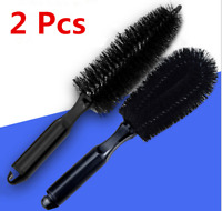 2Pcs Tire Washing Clean Alloy Soft Bristle Cleaner Car Wheel Cleaning Brush Tool