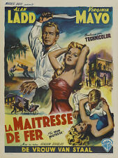 THE IRON MISTRESS Movie POSTER 27x40 B Alan Ladd Virginia Mayo Joseph Calleia