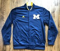 NWT NCAA University of Michigan Adidas Basketball Warmup Jacket Size XL