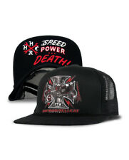 HOT ROD HELLCAT SPEED POWER DEATH IRON CROSS RAT ROD ROCKABILLY TRUCKER HAT  CAP 03f6ceed5a9d