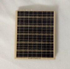 Stampin Up 1997 Popular Plaid Background Wood Mounted Rubber Stamp