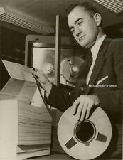 Orig. Photo, John Ogle & elektronisches Gehirn, 1957