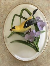 1984 Franklin Mint Porcelain The American Goldfinch Wall Plaque By Colin Newman