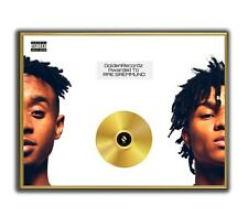 Rae Sremmund Poster, SremmLife GOLD/PLATINIUM CD, gerahmtes Poster HipHop Rap