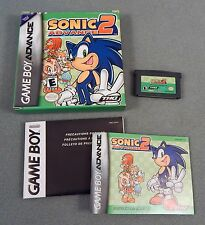 SONIC ADVANCE 2 COMPLETE 2003 GBA Game Boy Advance CONTACTS CLEANED WORKS