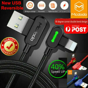 MCDODO 90 Degree Right Angle USB Fast Charger Cable Cord for iPhone iPod iPad