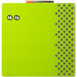 Nobo magnethaftende Kombitafel mit Schaumstoffpinnwand (36x36 cm) grün