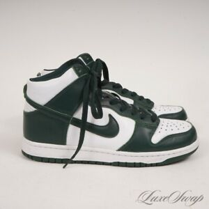 LNWOB Nike Dunk High CZ8149-100 Spartan Green White Leather Sneakers 8.5 NR
