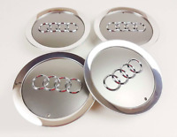 4x145mm Audi Gray Wheel Center Caps Hubcaps Emblems Rim Caps Badges 4E0601165A