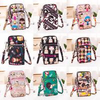 Women Crossbody Bag Cellphone Pouch Wrist Small Handbag Coin Purse Print Fashion