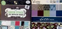 2 Pad Lot DCWV 12x12 Scrapbooking Paper Cardstock The Green Stack & Latte Stack