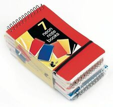 NOTEBOOKS NEON PADS PK 7 SMALL HANDY IN POCKET 151 CHILTERN WOVE