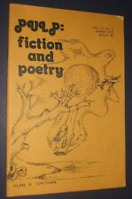 1976 Pulp: Fiction and Poetry Vol.1 No.1 Winter J.R. Shifino Signed Narragansett